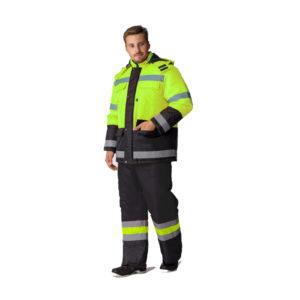 сигнальная спецодежда, костюм для дорожных работ